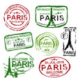 french visa stamps vector image vector image