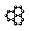 graphene structure icon vector image