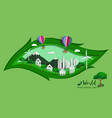 green eco friendly save the world and environment vector image