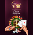 hands games poster vector image vector image