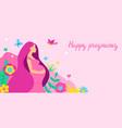 happy pregnancy pretty pregnant woman vector image vector image