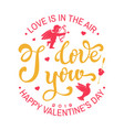 happy valentines day stamp badge card with vector image vector image