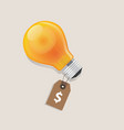 idea has a price tag dollar symbol money label vector image vector image