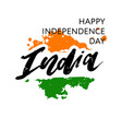 india independence day 15 august lettering vector image