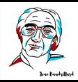 jean baudrillard portrait vector image vector image