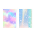 kawaii background with rainbow princess gradient vector image vector image