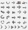 lots of black line arrows vector image vector image
