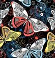 Lovely graphic pattern fancy butterflies vector image vector image