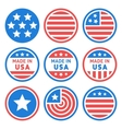 Made in USA Labels Set vector image vector image