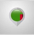 map navigation pointer with zambia flag design vector image vector image