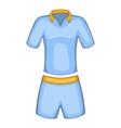 Men tennis uniforms icon cartoon style vector image vector image