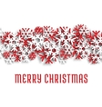 Merry Christmas snowflakes greeting card vector image vector image