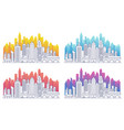 modern cityscape outline gradient vector image vector image