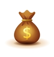 money bag - realistic style vector image vector image