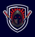 ninja assassin mascot logo vector image