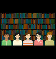 Open library vector image vector image