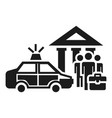 police bribery case icon simple style vector image