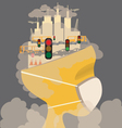 Pollution in the city vector image