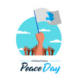 poster of people parade for world peace vector image vector image