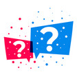 question mark design in chat bubble style vector image vector image