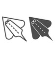 ramp fish line and glyph icon electric stingray vector image vector image