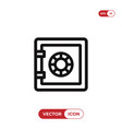 safebox icon vector image vector image