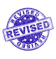 scratched textured revised stamp seal vector image
