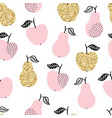 seamless pattern with apples and pears vector image vector image