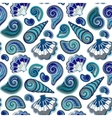 Seamless pattern with shells Summer vector image vector image