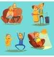 Senior People Icons Set vector image vector image