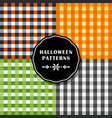 set of bright color halloween checkered background vector image