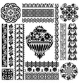set ornament pattern vector image