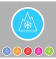 Snow tire Mountain Snowflake Mud symbol icon flat vector image vector image