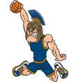 spartan sports logo mascot basketball vector image vector image