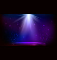 stage spot lighting magic light blue and purple vector image vector image