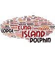 the dolphin lodge san blas islands panama text vector image vector image