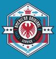 Vintage Americana Style American Label vector image vector image