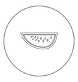 watermelon black icon in circle isolated vector image