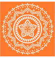 white modern mandala orange background imag vector image vector image
