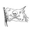 doodle Jolly Roger vector image