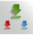Download icon - white app button vector image
