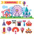 Carnival in amusement park vector image