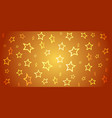 abstract background from 3d stars on gradient vector image vector image