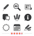 agricultural icons gluten free symbols vector image