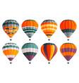 air balloons icons set colorful balloons vector image
