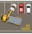 Bad Parking Top View Background vector image vector image