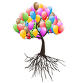 balloons tree for happy holiday vector image vector image