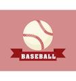 baseball sport ball vector image vector image