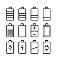 Battery icons set in ios7 style vector image vector image