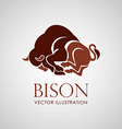 bison icon isolat vector image vector image